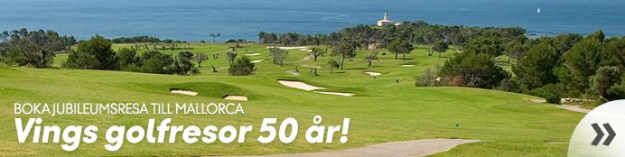 Vings golfresor 50 år