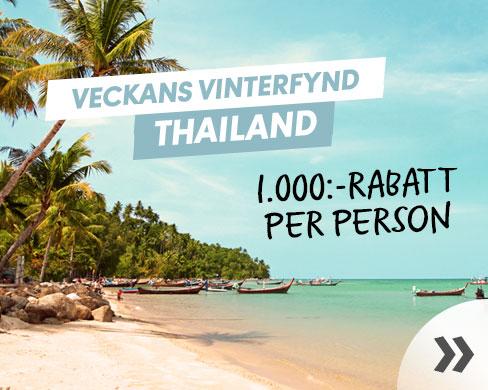 1.000:- rabatt till Thailand
