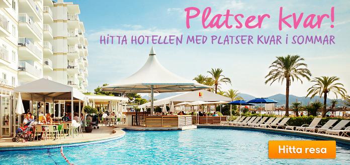 Hotell med platser kvar i sommar
