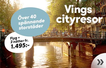 Vings cityresor - fr. 1.495:-