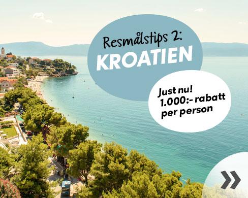 Kampanjpriser på resor till Kroatien