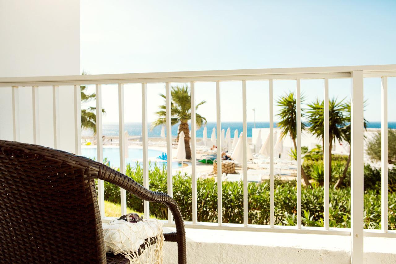 Enrumslägenhet Small Family, balkong med havsutsikt, Apollon.