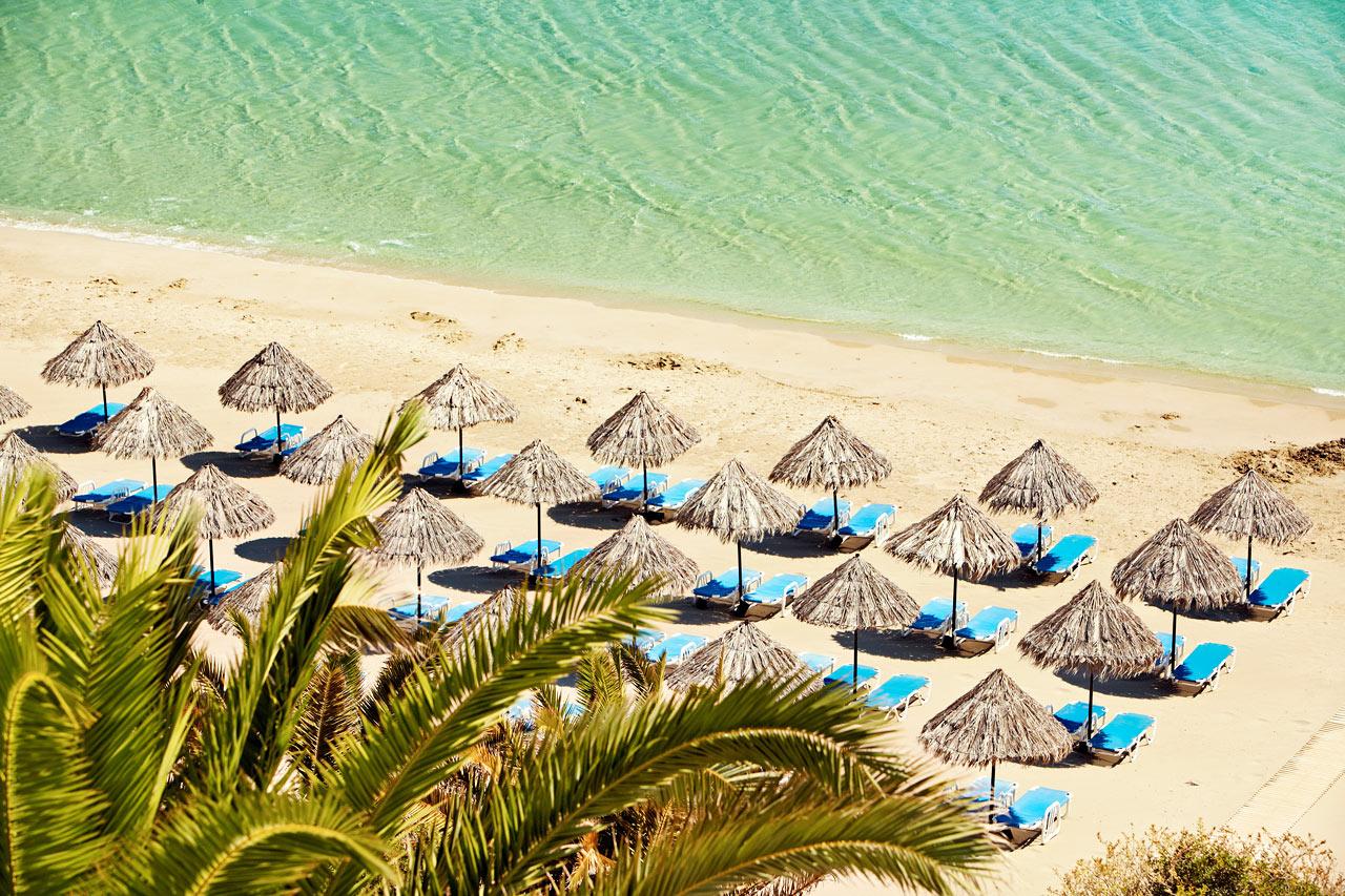 Strandhäng på en av Kretas bästa stränder.
