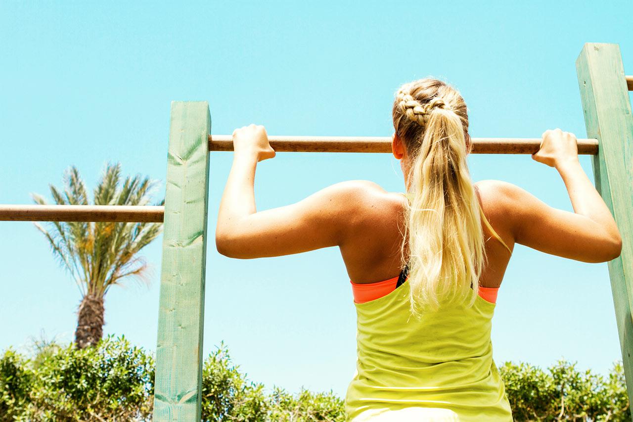 Sunwing Sandy Bay Beach - På Sunwing Sandy Bay finns ett utegym där du tränar funktionell styrka under bar himmel.