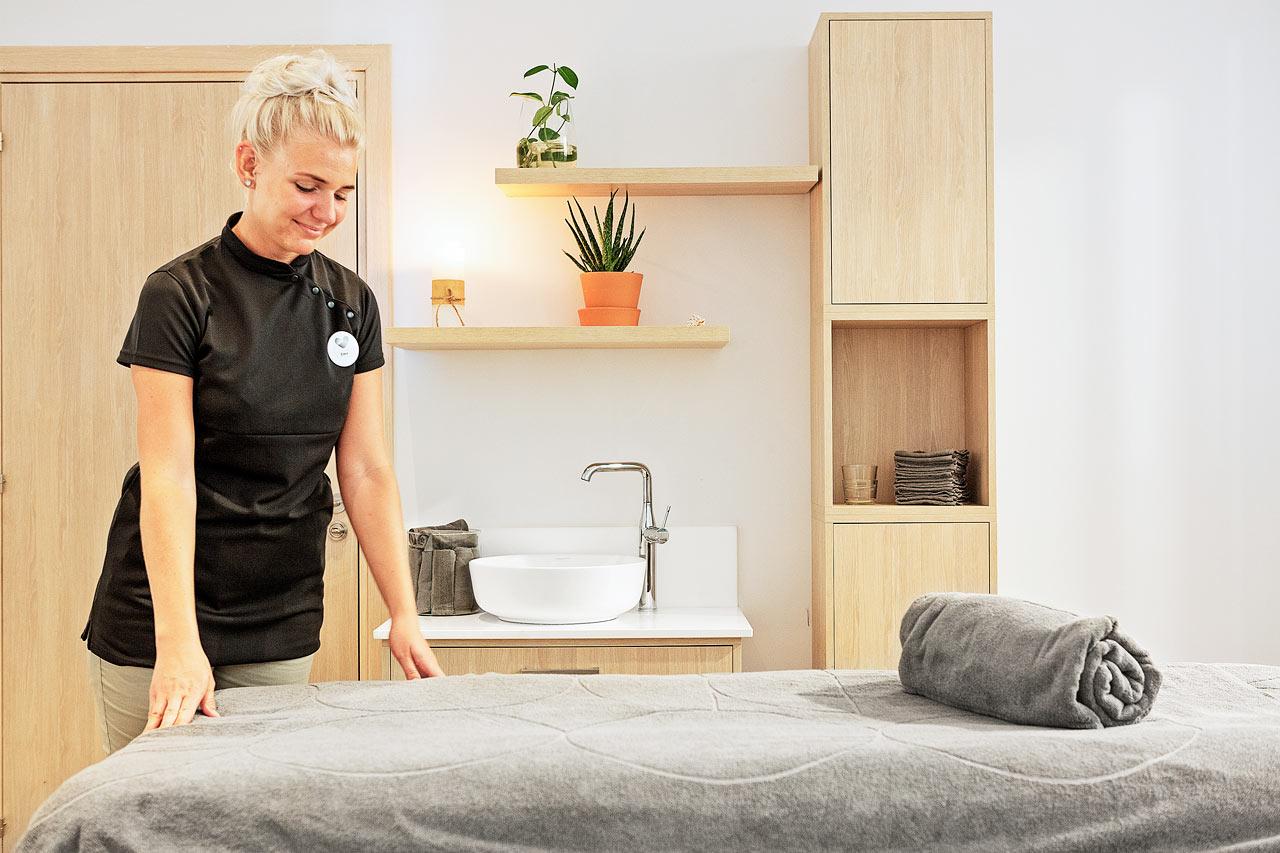 Vårt spa ger dig stora möjligheter till avkoppling och sköna behandlingar.
