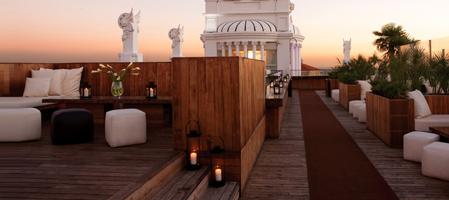 Cityhotell med takterrasser