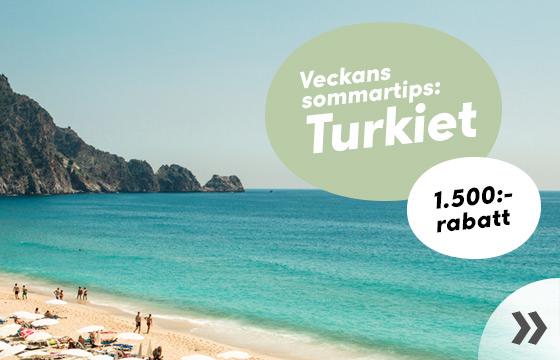 Turkiet - upp till 1.000:- rabatt