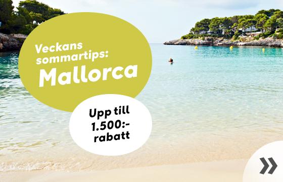 Mallorca - upp till 1.500:- rabatt
