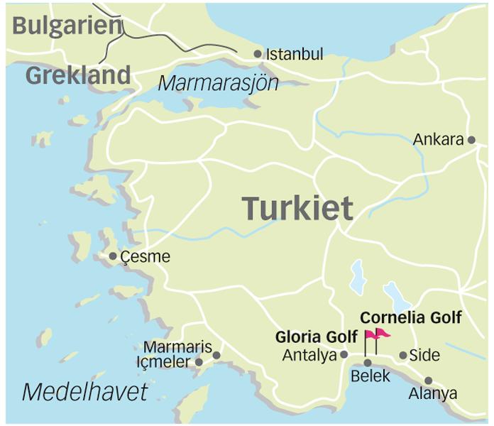 karta över side turkiet Spela golf i Belek (Turkiet)   Boka golfresor med Ving karta över side turkiet